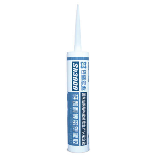 Silicone weatherproof sealant for plastic sheet