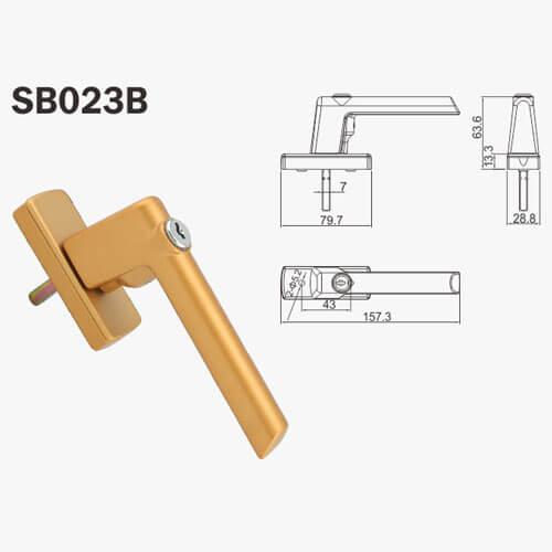 pad handles aluminium doors