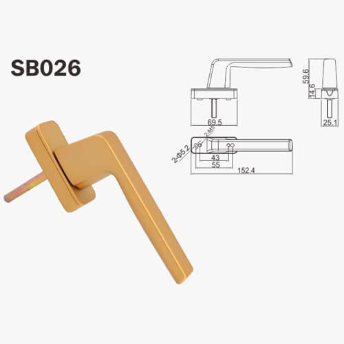 aluminium lever handle