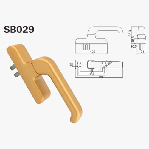 white door handle
